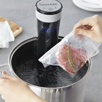 SousVide Living Sous Vide Cooking with Water Faster Easier Sous-vide bag in pot immersion