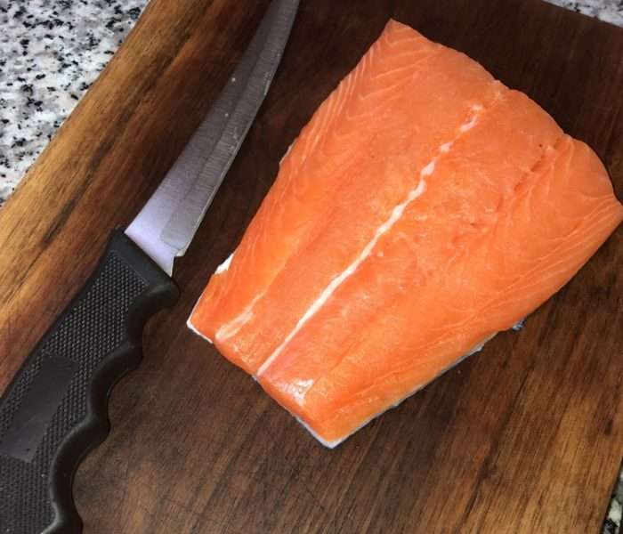 Salmon, straightforward.